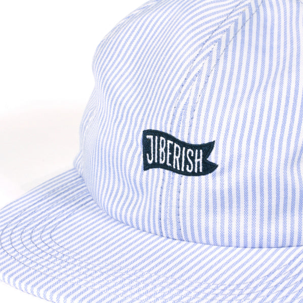 Searsucker Unstructured 6 Panel Blue