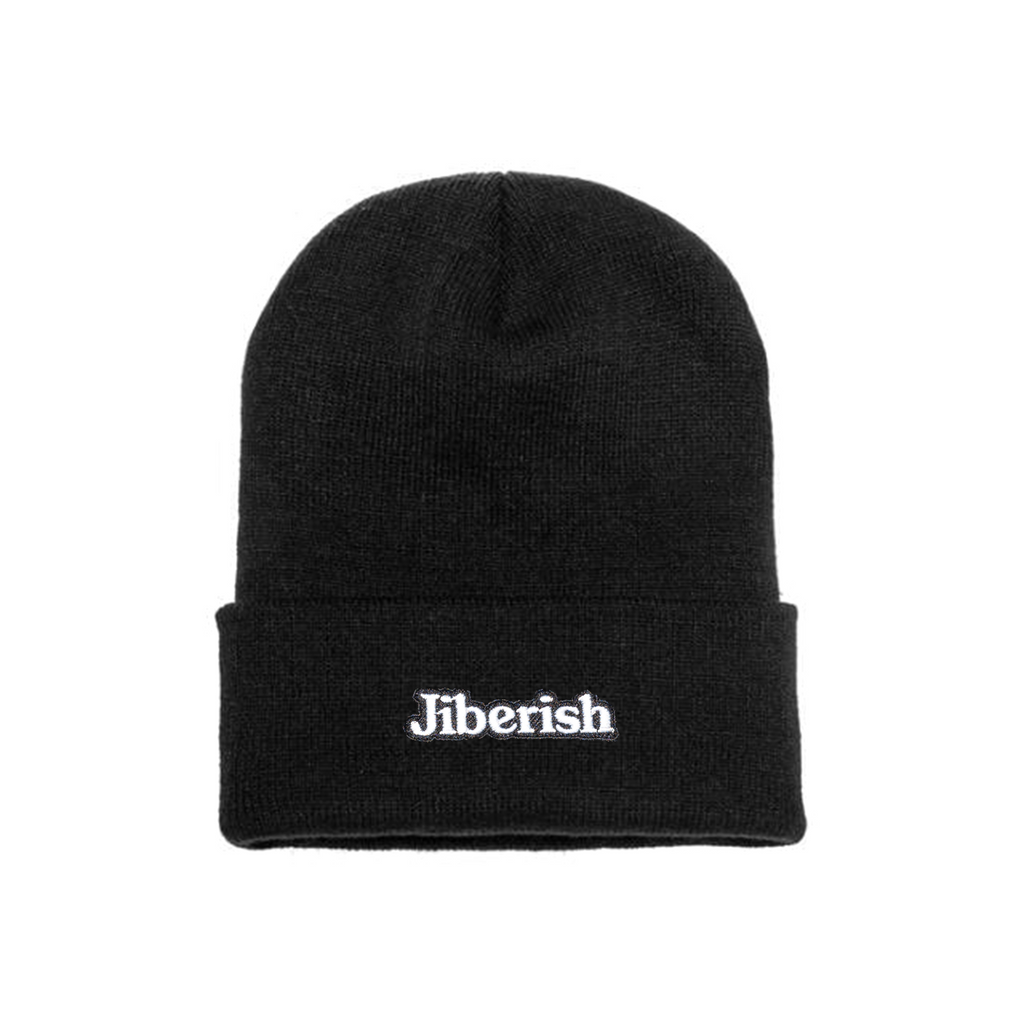 Hometown Embroidered Cuff Beanie Black