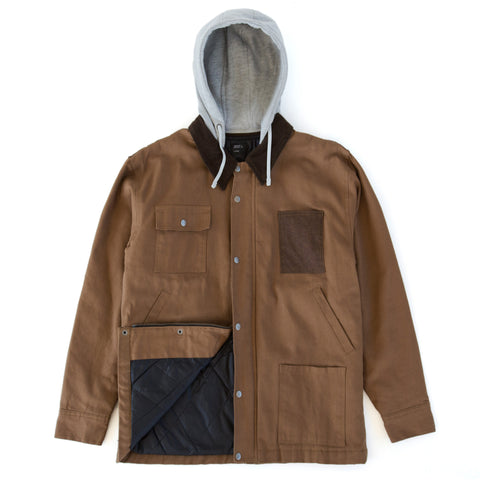 Hooded Field Jacket Brown