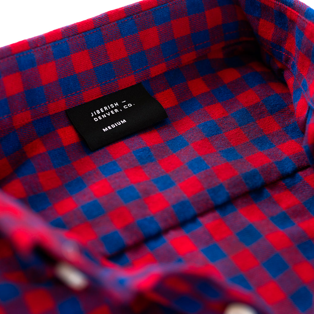 Checkered Flannel Red/Blue