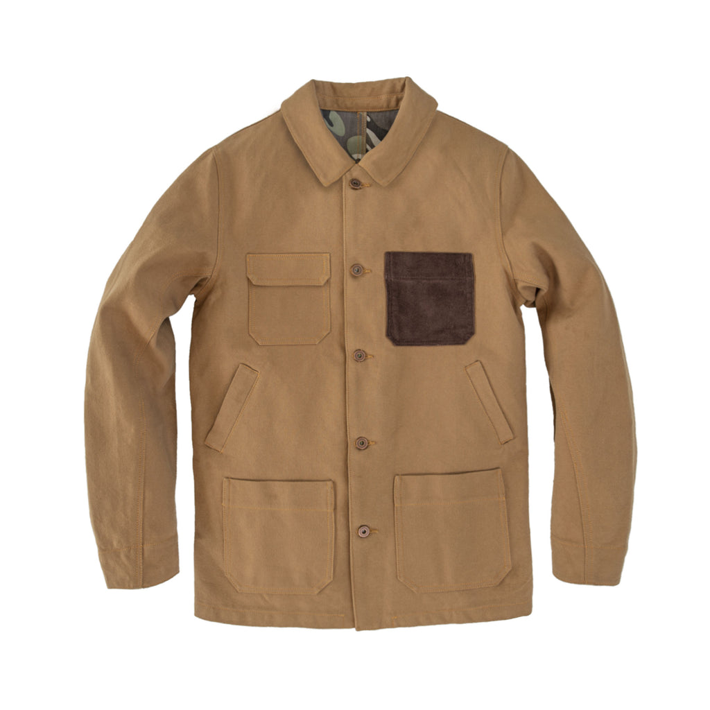 Made in USA Canvas Chore Coat Camel
