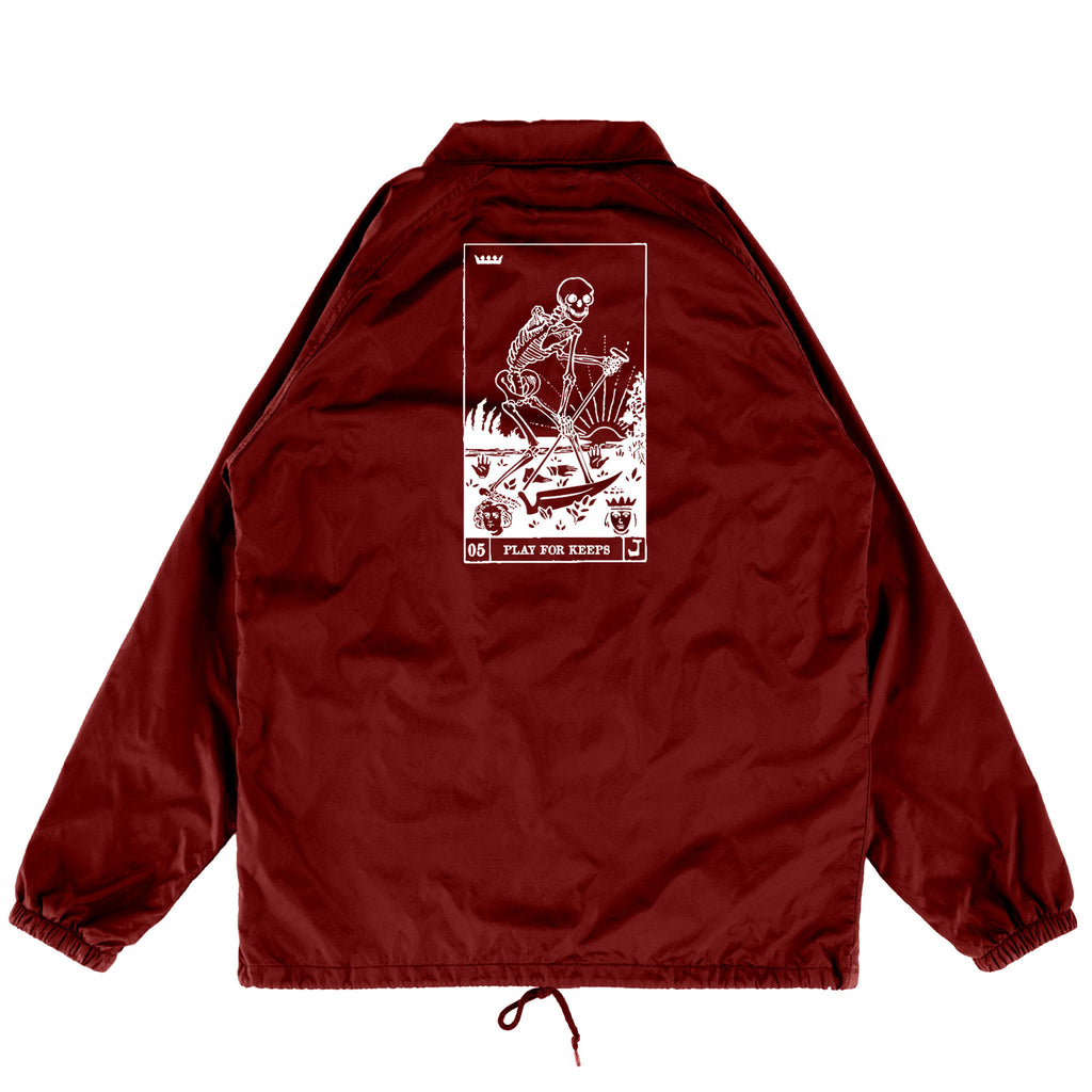 Play For Keeps Coaches Jacket Maroon