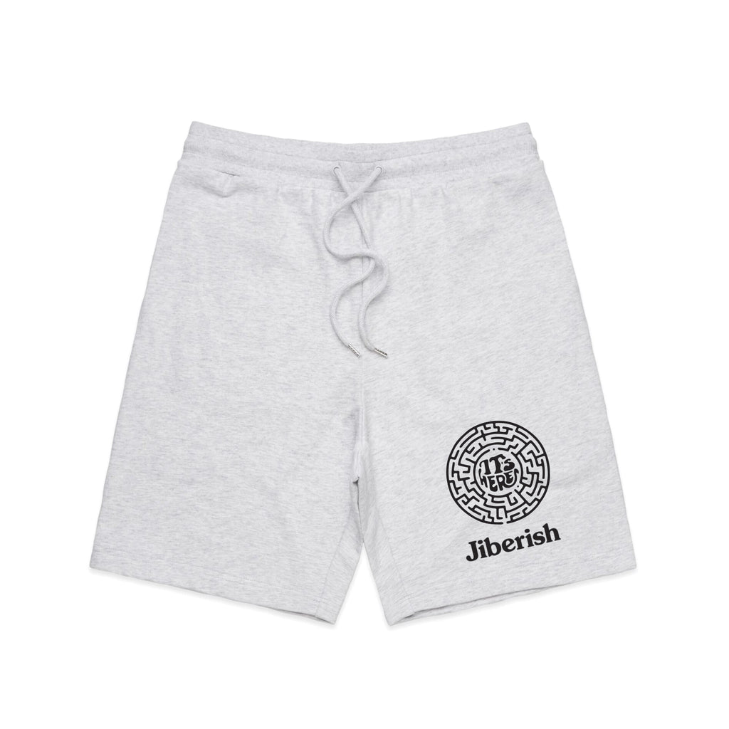 It's Here Fleece Shorts Heather Grey