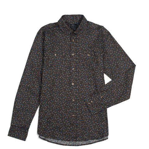 Floral Button Down Brown