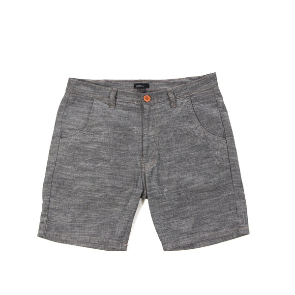 Cotton Chambray Short Grey