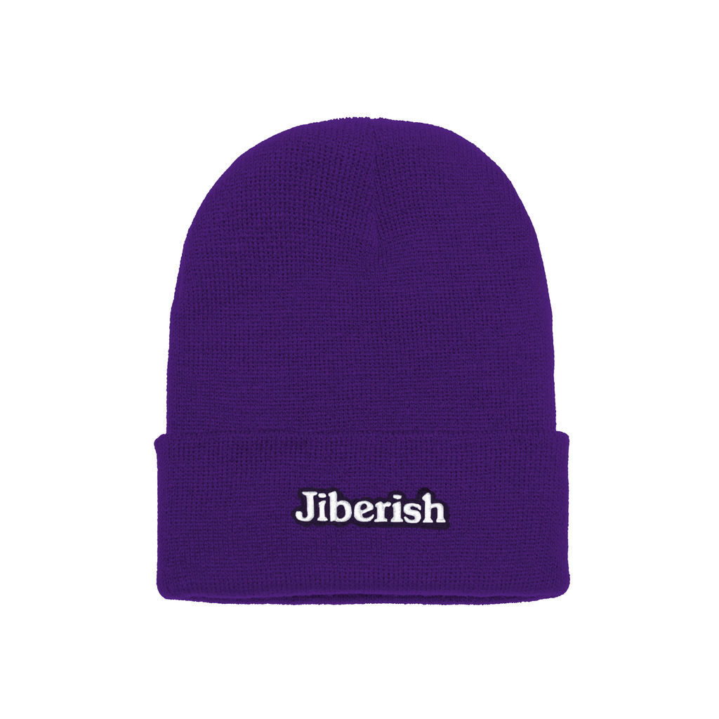 Hometown Embroidered Cuff Beanie Purple