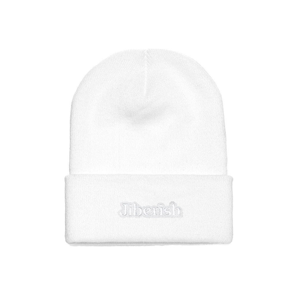 Hometown Embroidered Cuff Beanie White