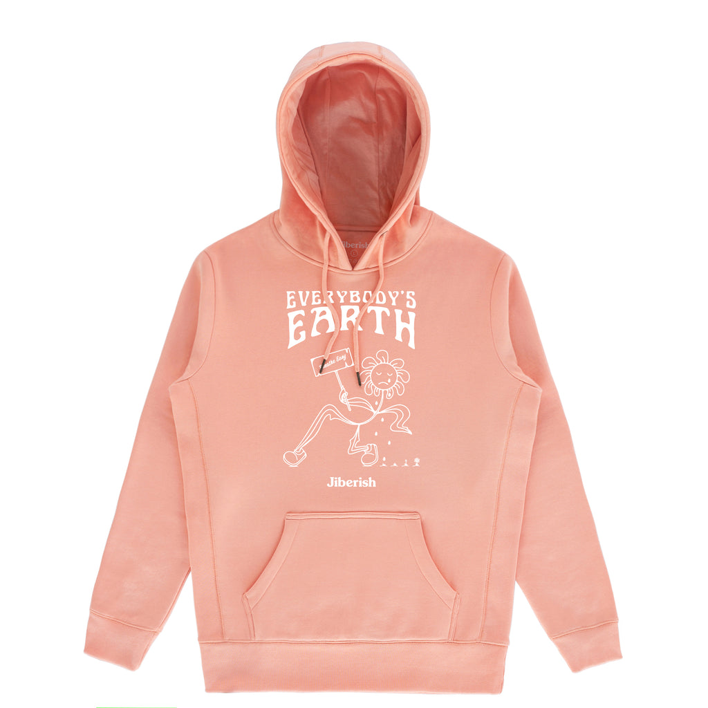 Everybody's Earth Hoodie Salmon