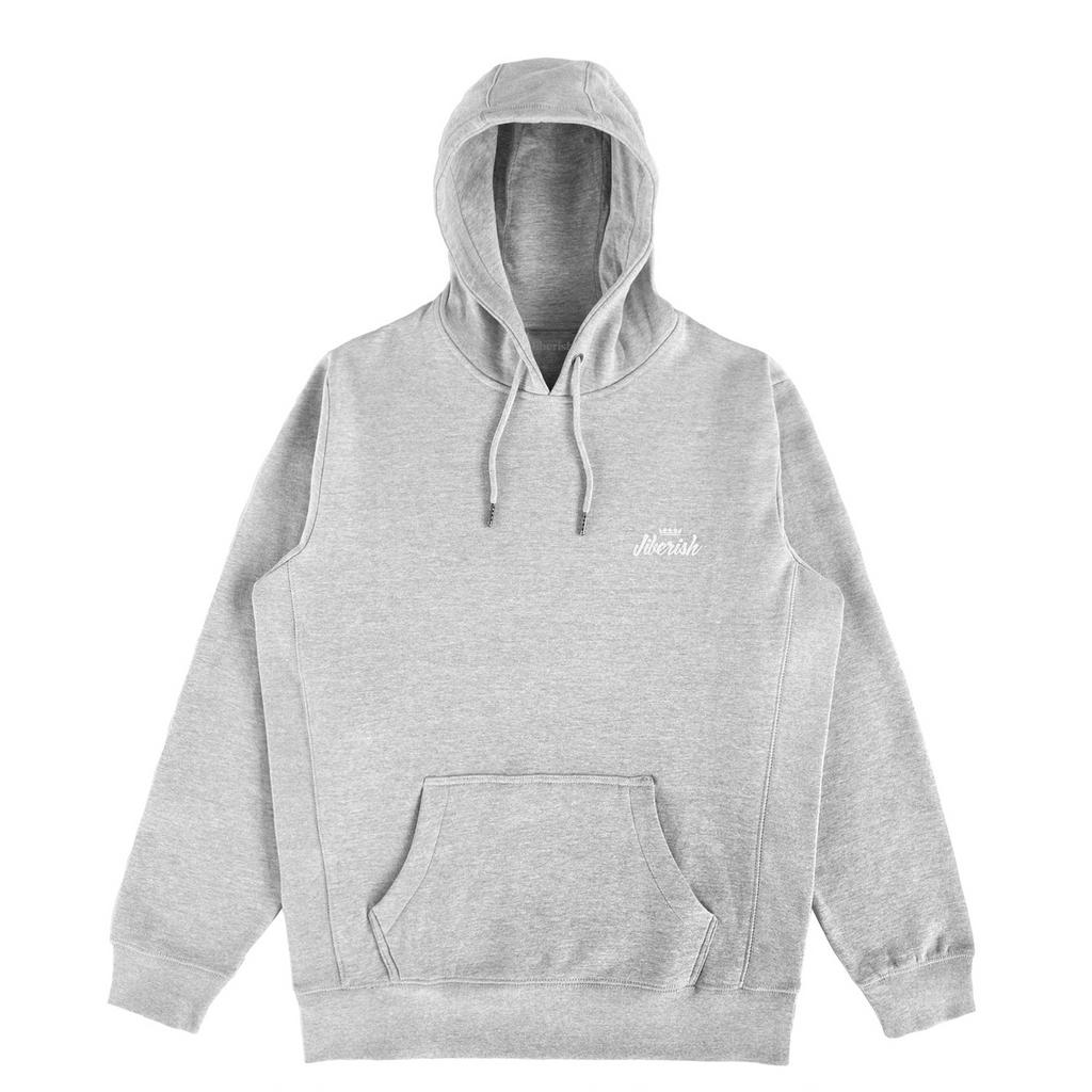 Mini Script Hoodie Heather Grey