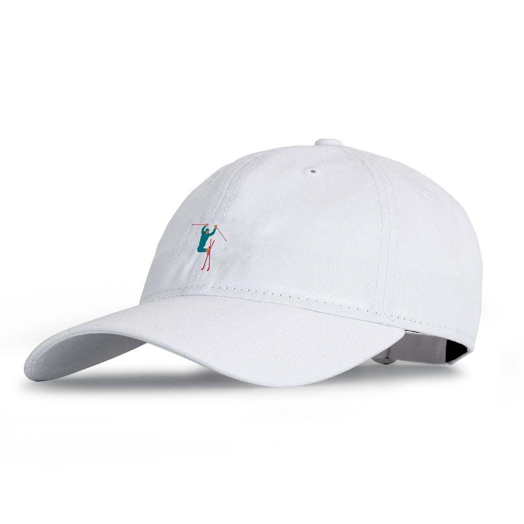 Hot Dogger Dad Hat White
