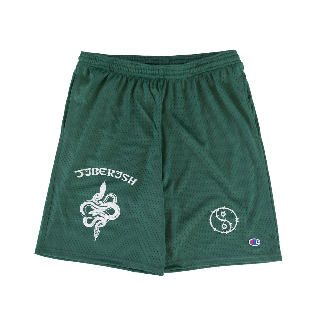 Champion Mesh Pocket Shorts Forest Green