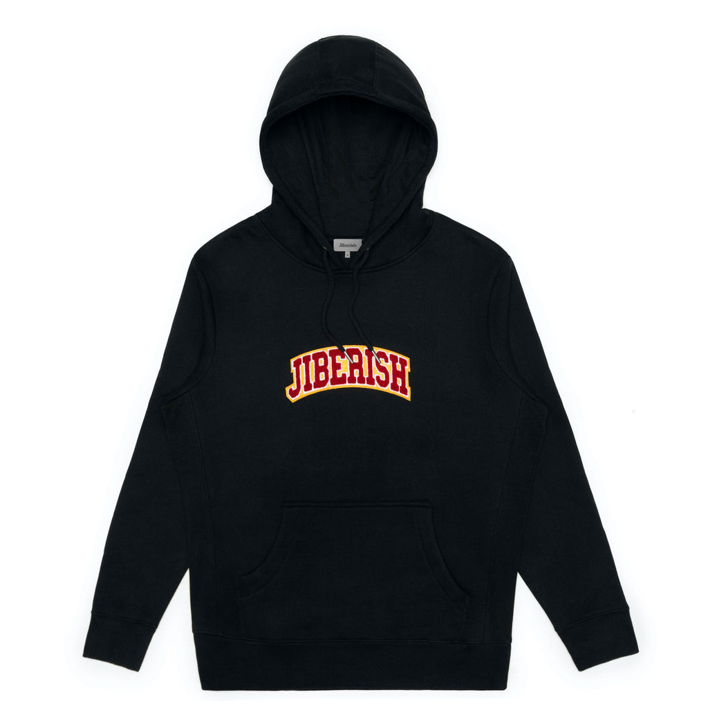 Chenille Arch Hoodie Black