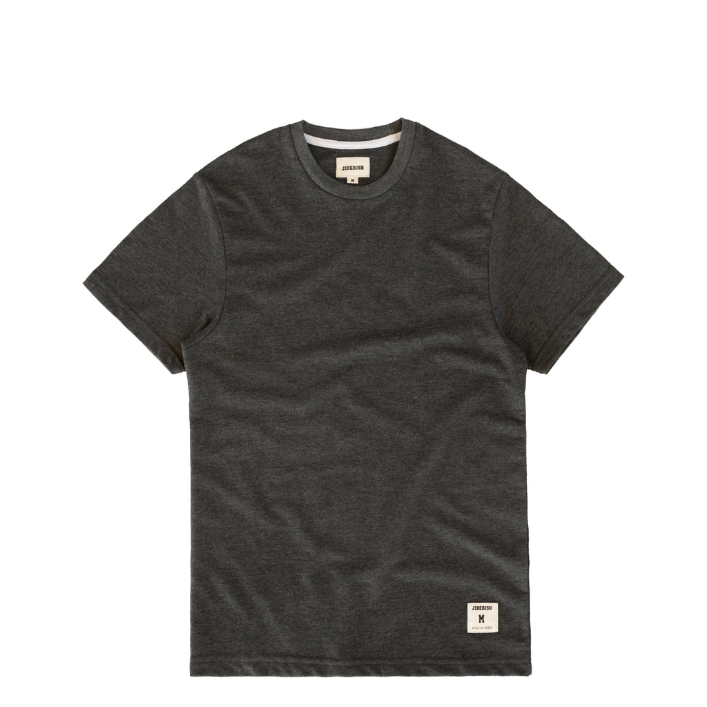 Essential Terry Tee Heathered Charcoal