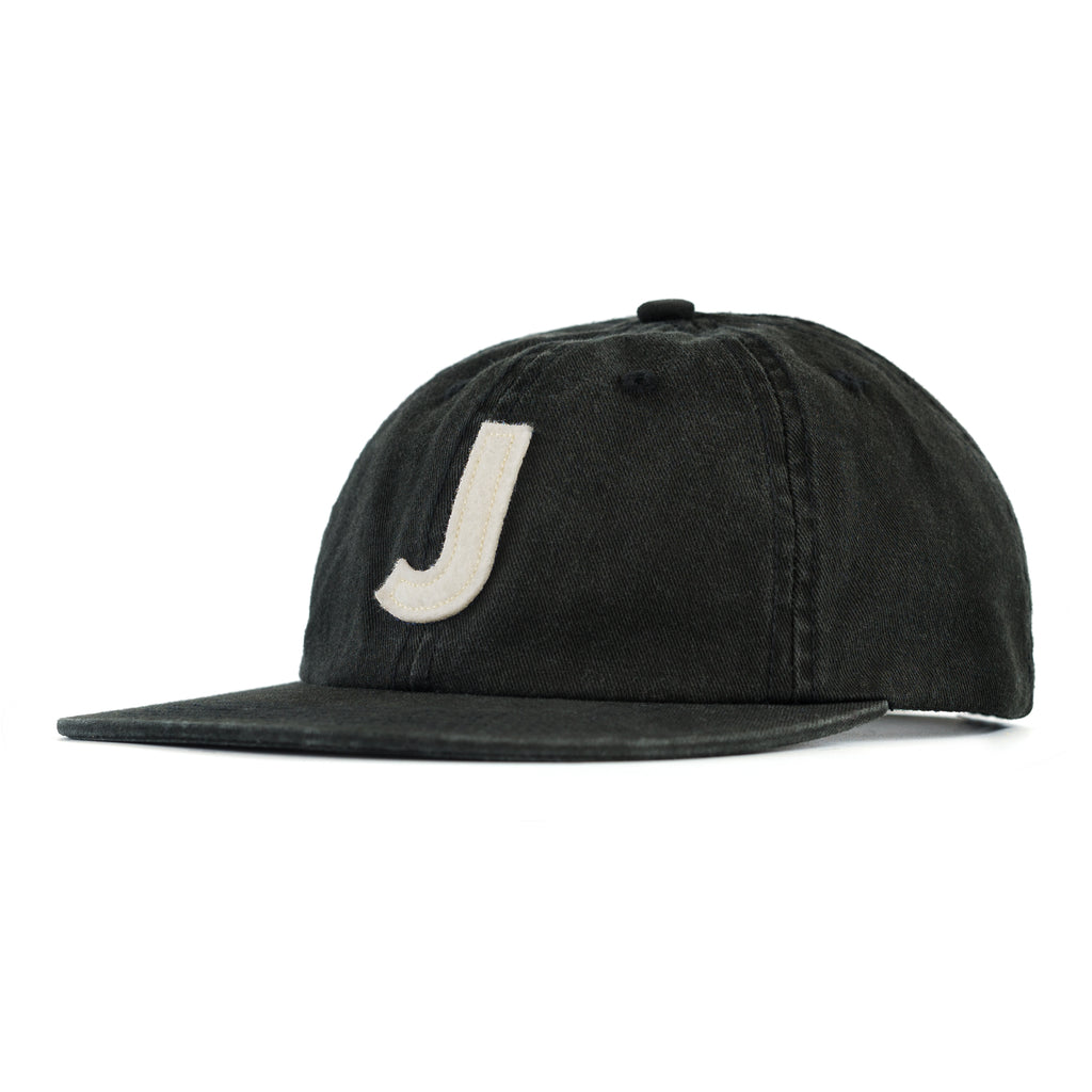 Washed J 6-Panel Black