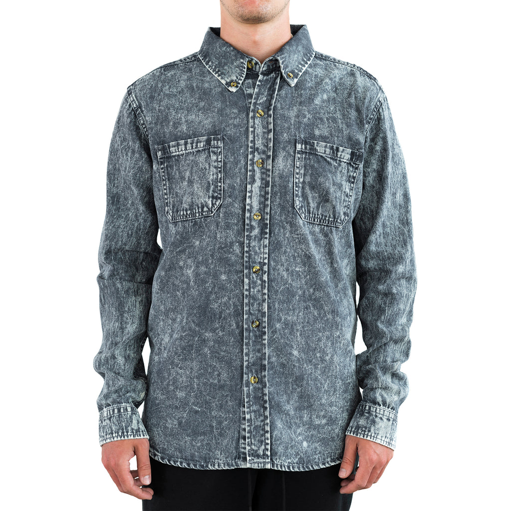 Costilla Enzyme Washed Button Down - Cape Breton Blue