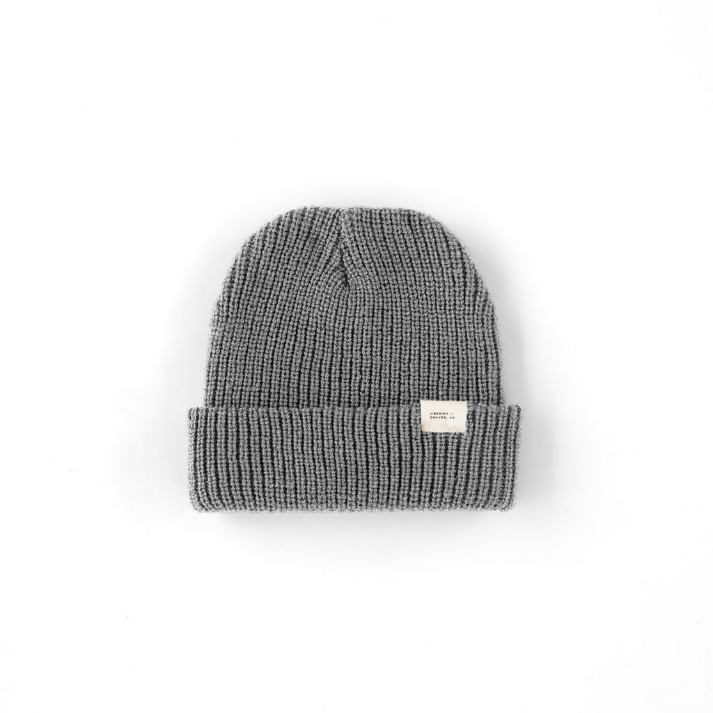 Merino Wool Beanie Heather Grey