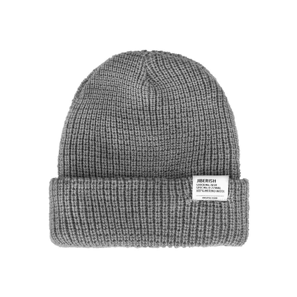 Merino Wool Fisherman Beanie Grey