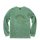 Overdyed Arch Logo Long Sleeve Tee Army
