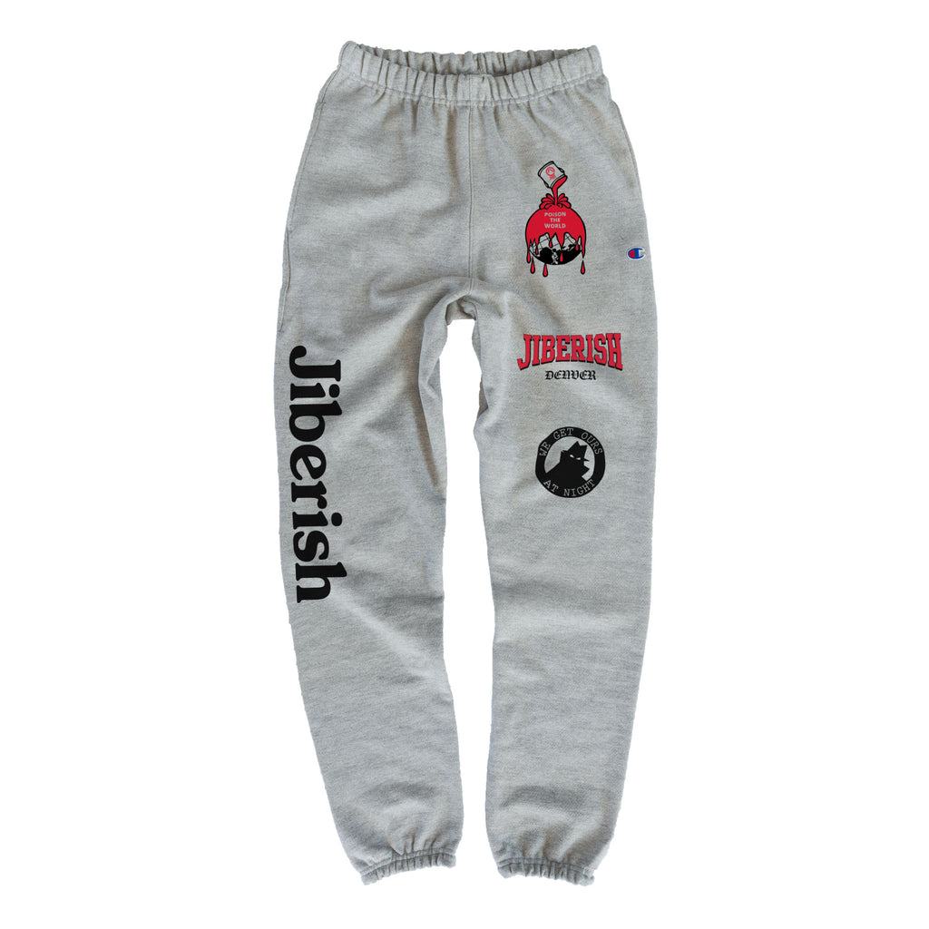 Heavyweight Champion Reverse Weave Sweats Heather Grey
