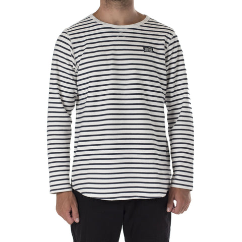 Pennant Striped Long Sleeve Navy