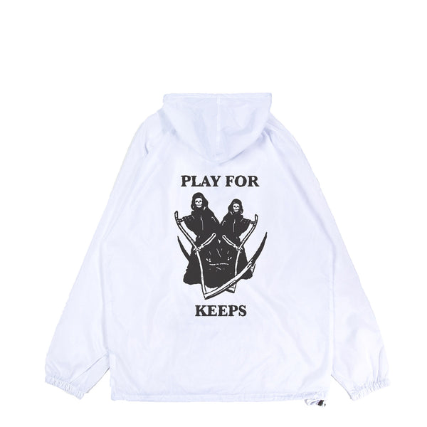 Play For Keeps Lightweight Packable Anorak White