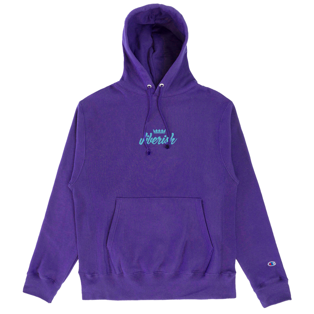 Champion Reverse Weave Script Purple