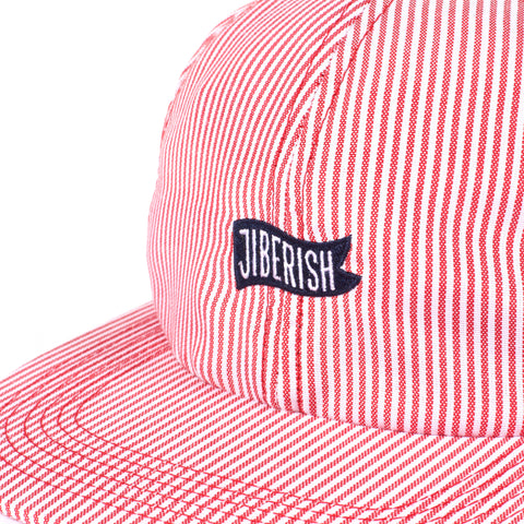 Searsucker Unstructured 6 Panel Red