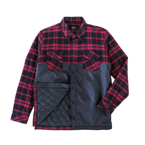 Insulated Riding Flannel Red