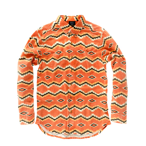 Shiprock Flannel Button Down - Salmon