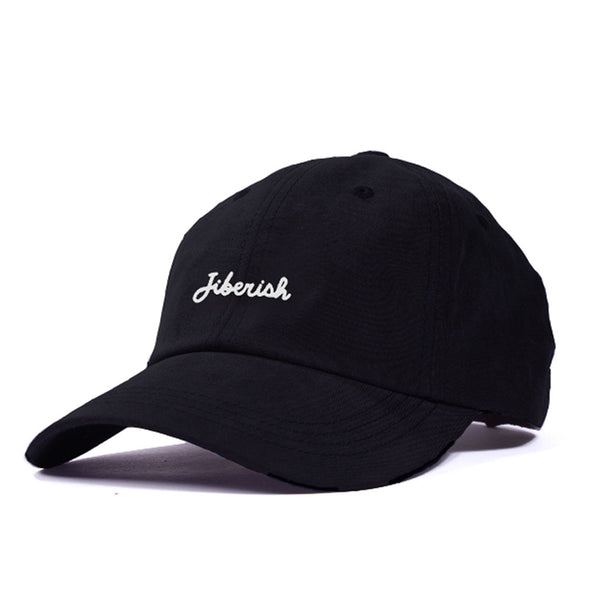 Script Unstructured 6 Panel Hat Black
