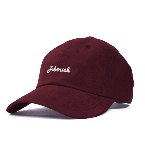 Script Unstructured 6 Panel Hat Crimson