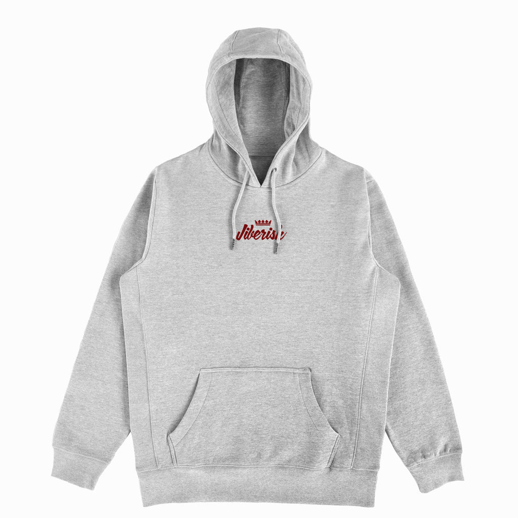 Heather Grey Script Hoodie