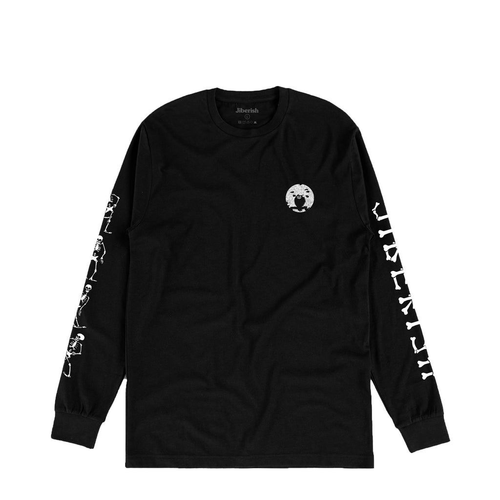 Skeleton Dance Long Sleeve Black