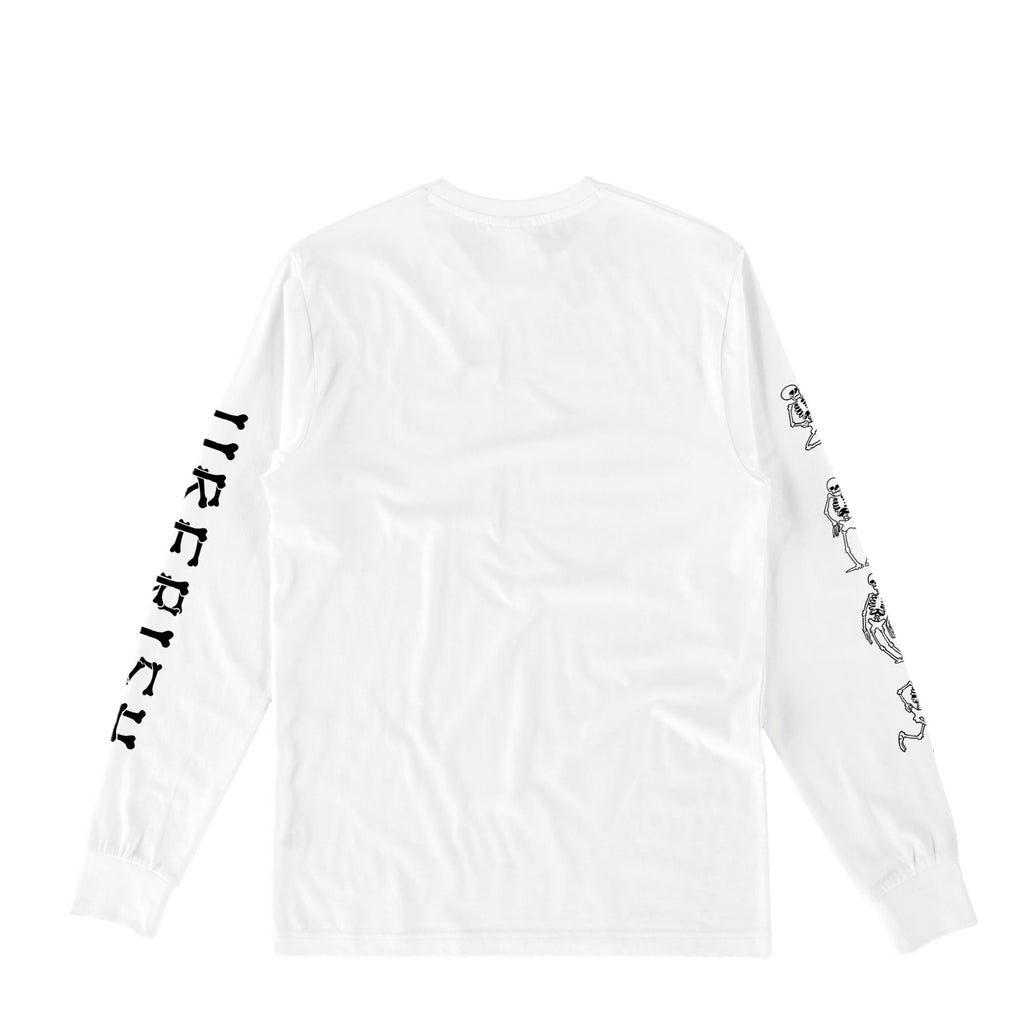 Skeleton Dance Long Sleeve White