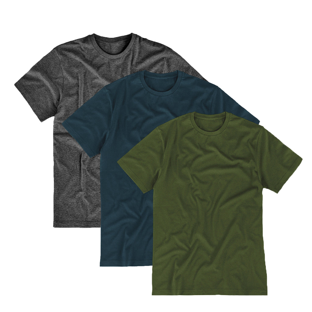 Essential Supima 3-Pack (Olive, Navy, Charcoal)