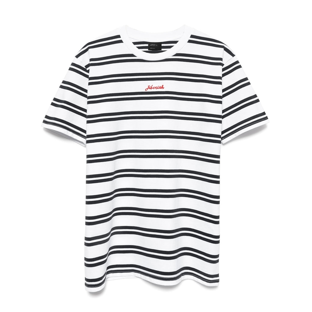 Striped Stitch T-Shirt White/Navy