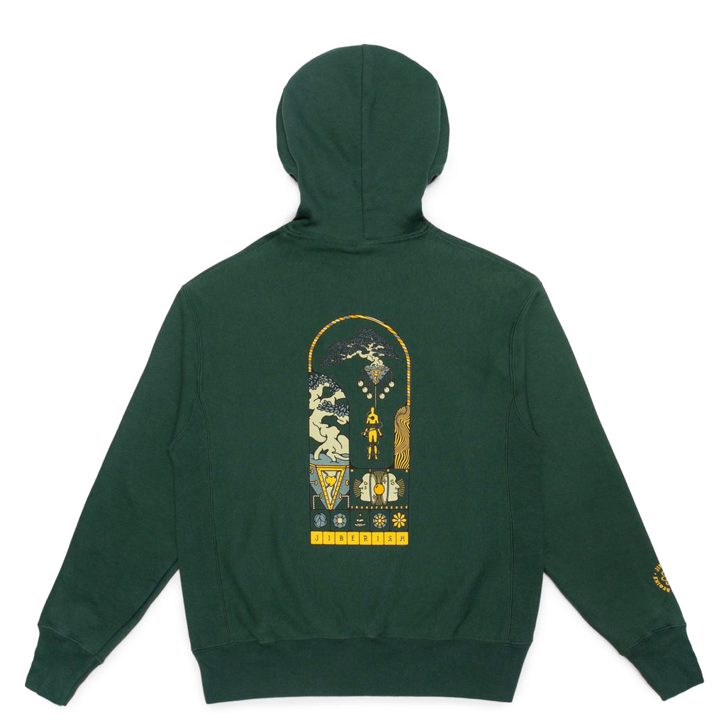 Tree of Life Reverse Weave Hoodie Forest