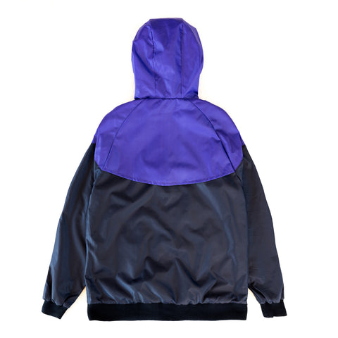 Chevron Windbreaker Navy/Purple