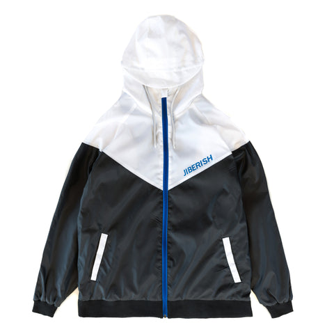 Chevron Windbreaker Black/White