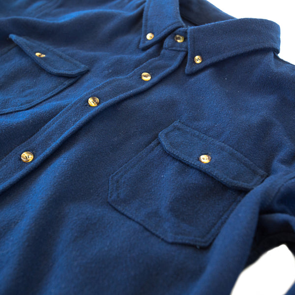 Heavyweight Wool Field Shirt Royal