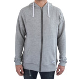 Essential Zip Hoodie Heathered Grey