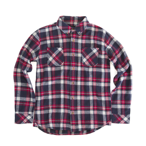 Cabin Flannel - Red, Black and White