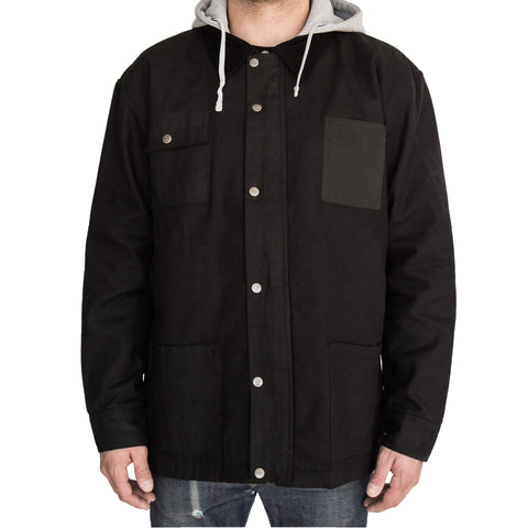 Hooded Field Jacket Black