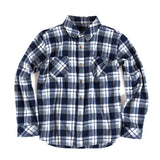 Cabin Flannel - Blue, Grey and White