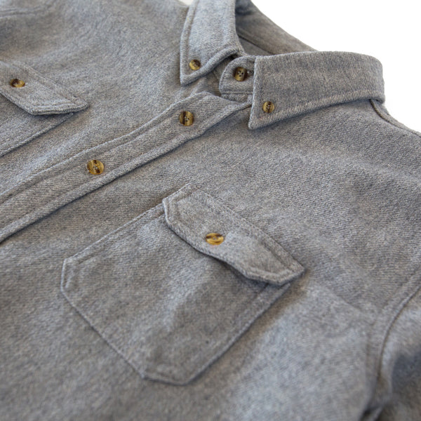 Heavyweight Wool Field Shirt Grey