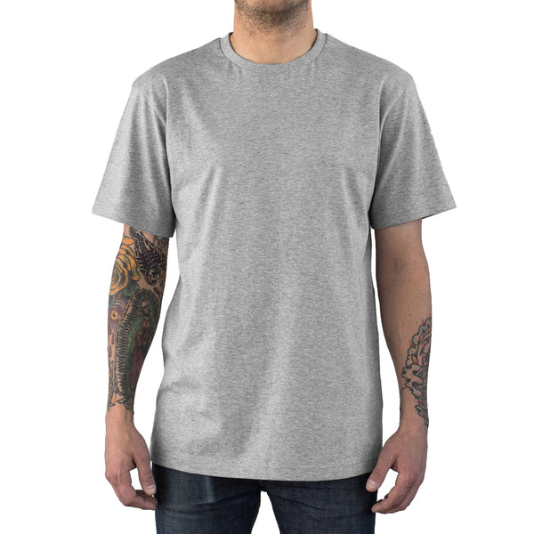 Essential Supima Cotton Tee Heather Grey