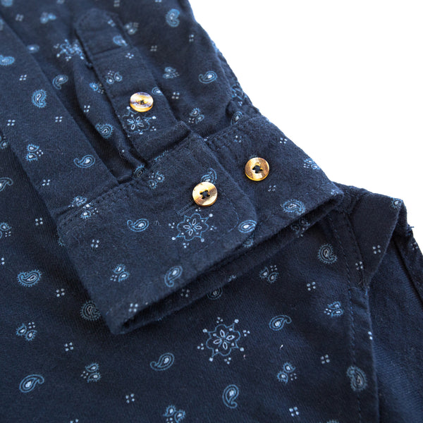 Snow Paisley Button Down