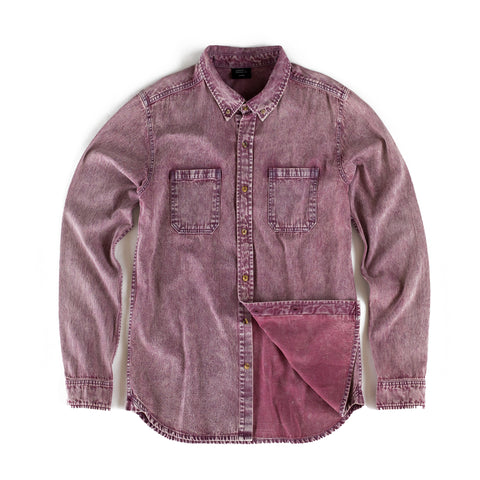 Costilla Enzyme Washed Button Down - Nantucket Red