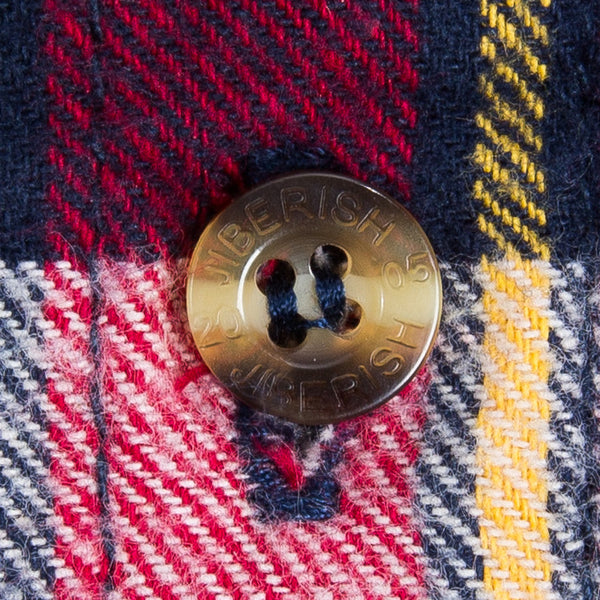 Cabin Flannel - Red, Navy and Yellow