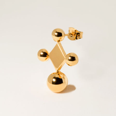 Donoma 18k Gold Geometric Stud Earrings | Women's Jewelry | cocheta.net